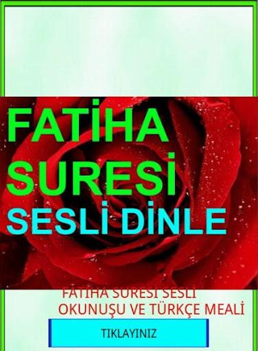 Fatiha Suresi Sesli Dinle Meal