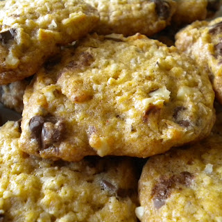 """""""Kicked"""" Up Chocolate Chip Oatmeal Cookies."""