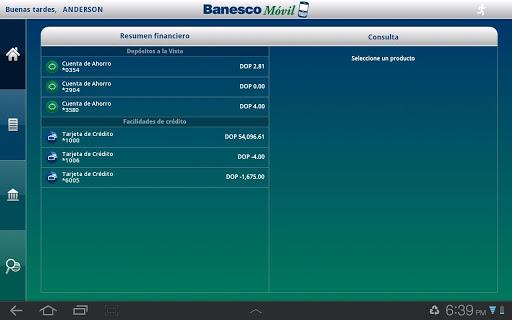 BanescoMóvil Dominicana Tablet