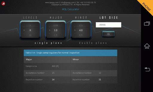AQL Calculator