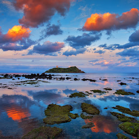 Parallel Worlds by Gabriele Copez - Landscapes Waterscapes ( #sea #reflections #clouds #water #sardegna,  )