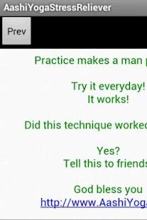 Aashi Yoga Stress Reliever screenshot