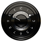 Black clock widget by TapaniLab icon