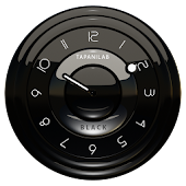 Black clock widget