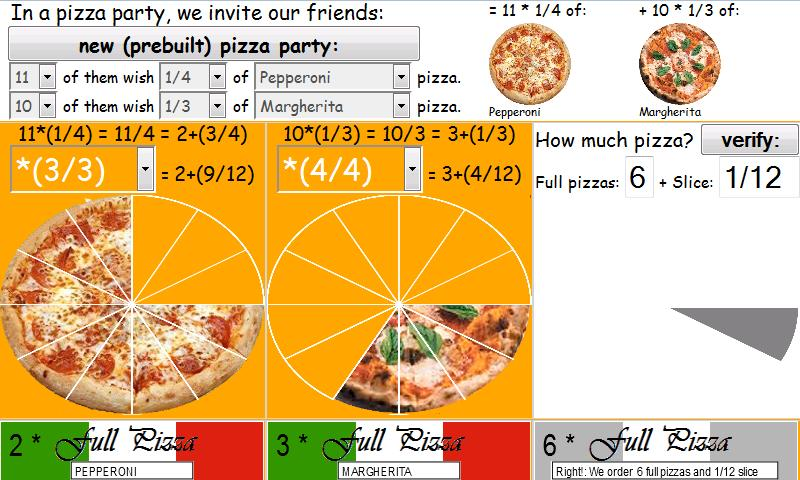 How much pizza to order? - screenshot