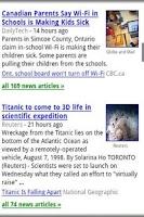 Screenshot of Google tech news.