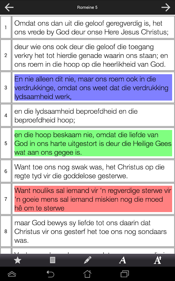 Afrikaans Bible - screenshot