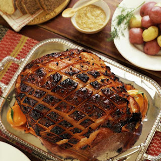 Baked Ham with Sweet Bourbon-Mustard Glaze