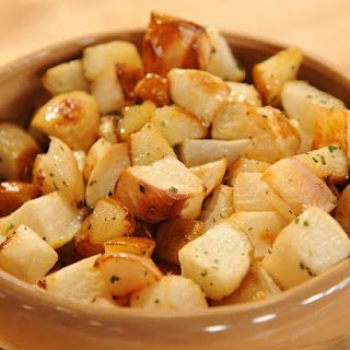 Roasted Turnips and Pears with Rosemary-Honey Drizzle