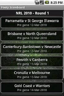 Footy Scoreboard - screenshot thumbnail