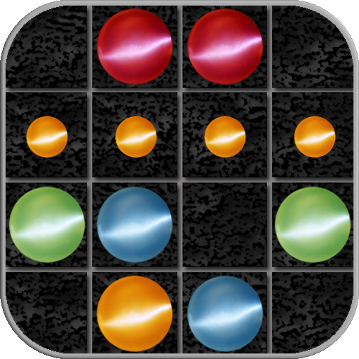 解谜の行の4宝石。 7×7行 / 4 in a row LOGO-記事Game