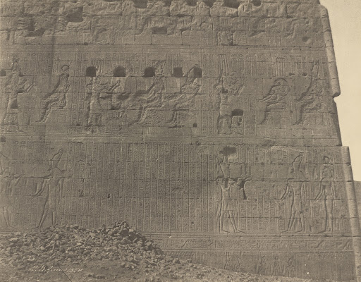 Edfu-Sculptures and Inscriptions on Oriental Face