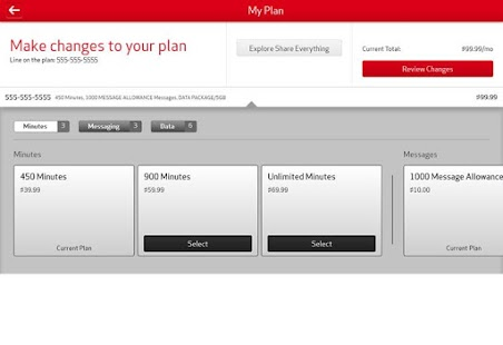 My Verizon Mobile for Tablets - screenshot thumbnail