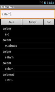 Azerbaijani Turkish Dictionary screenshot 0