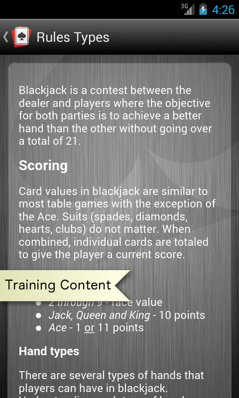Learn Pro Blackjack Trainer™- screenshot