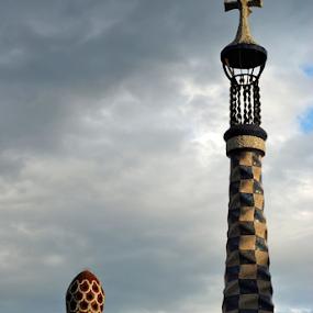 Gaudi by Oleg Verjovkin - Buildings & Architecture Architectural Detail ( catalonia, par guel, gaudi, barcelona )
