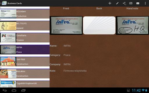 【免費生產應用App】Business Cards-APP點子