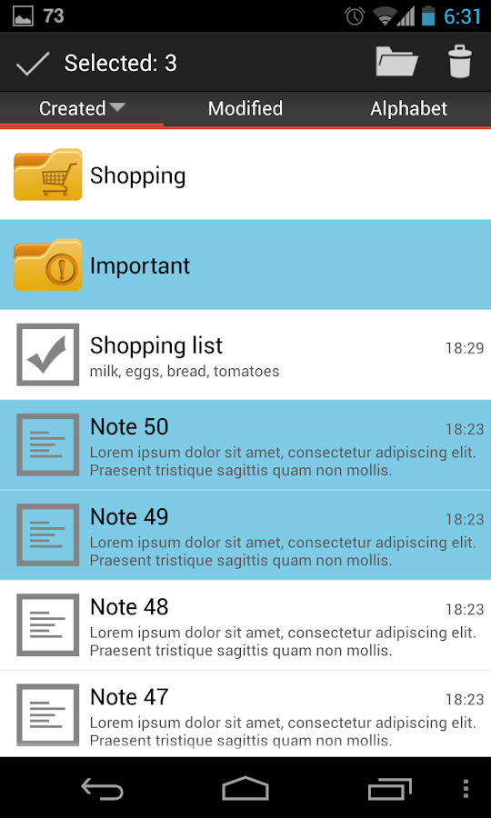 Note+ Notes- screenshot