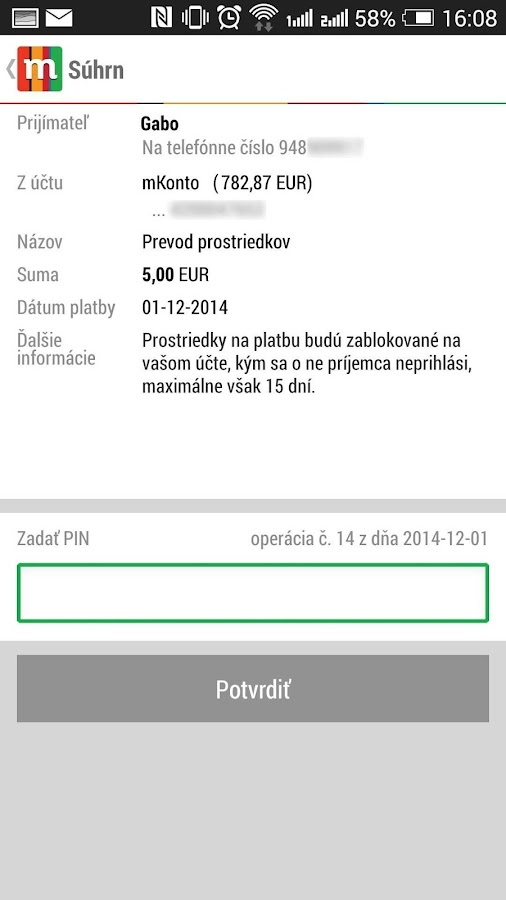 mBank SK 2.0 - screenshot