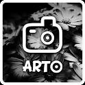 Arto: black and white photo icon