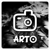 Arto: black and white photo Icon