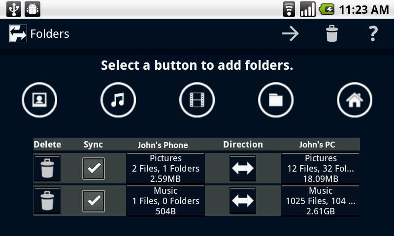Laplink Sync - screenshot