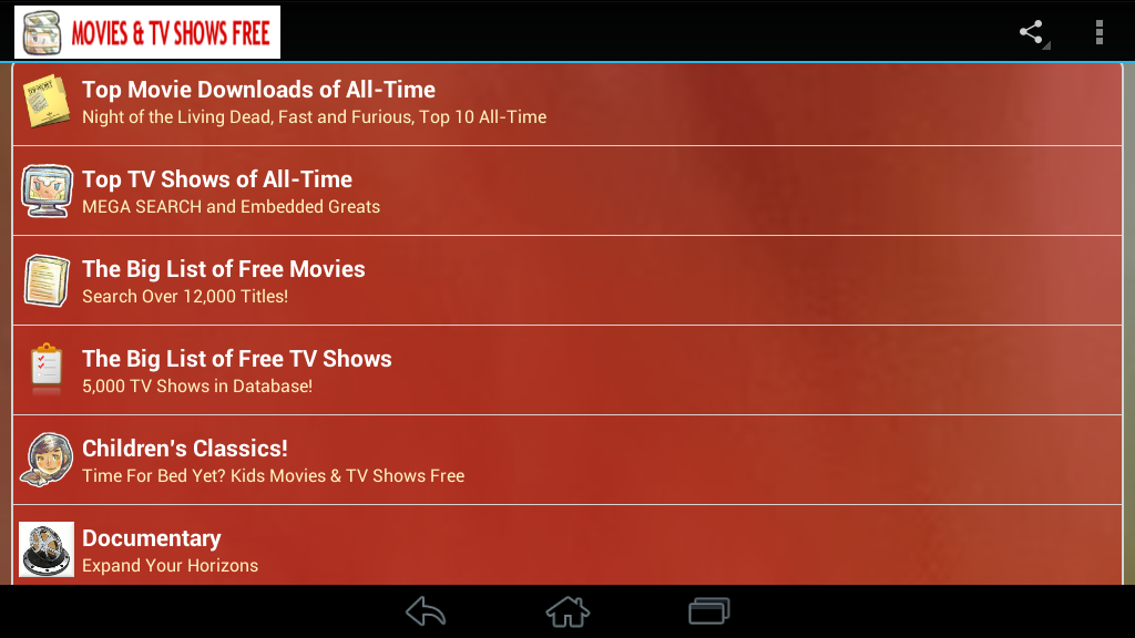 Movies TV Shows Free - screenshot