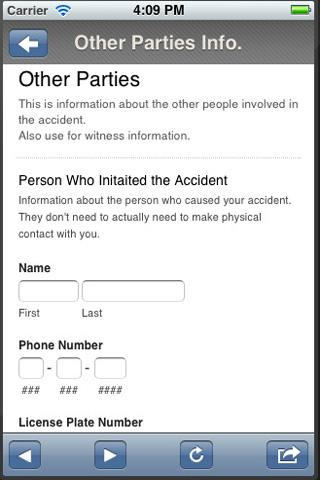 Bicycle Accident Assistant - screenshot