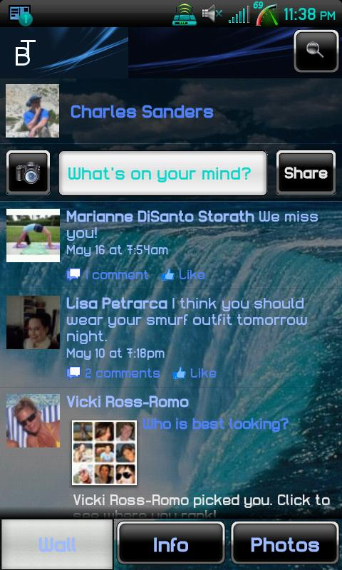 Blue Transparent Social - screenshot