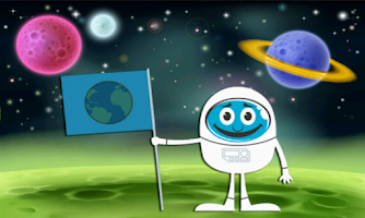 Screenshot of Twirling Astronaut Space Jump