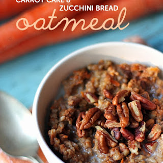 Vegan/GF Carrot Cake & Zucchini Bread Oatmeal
