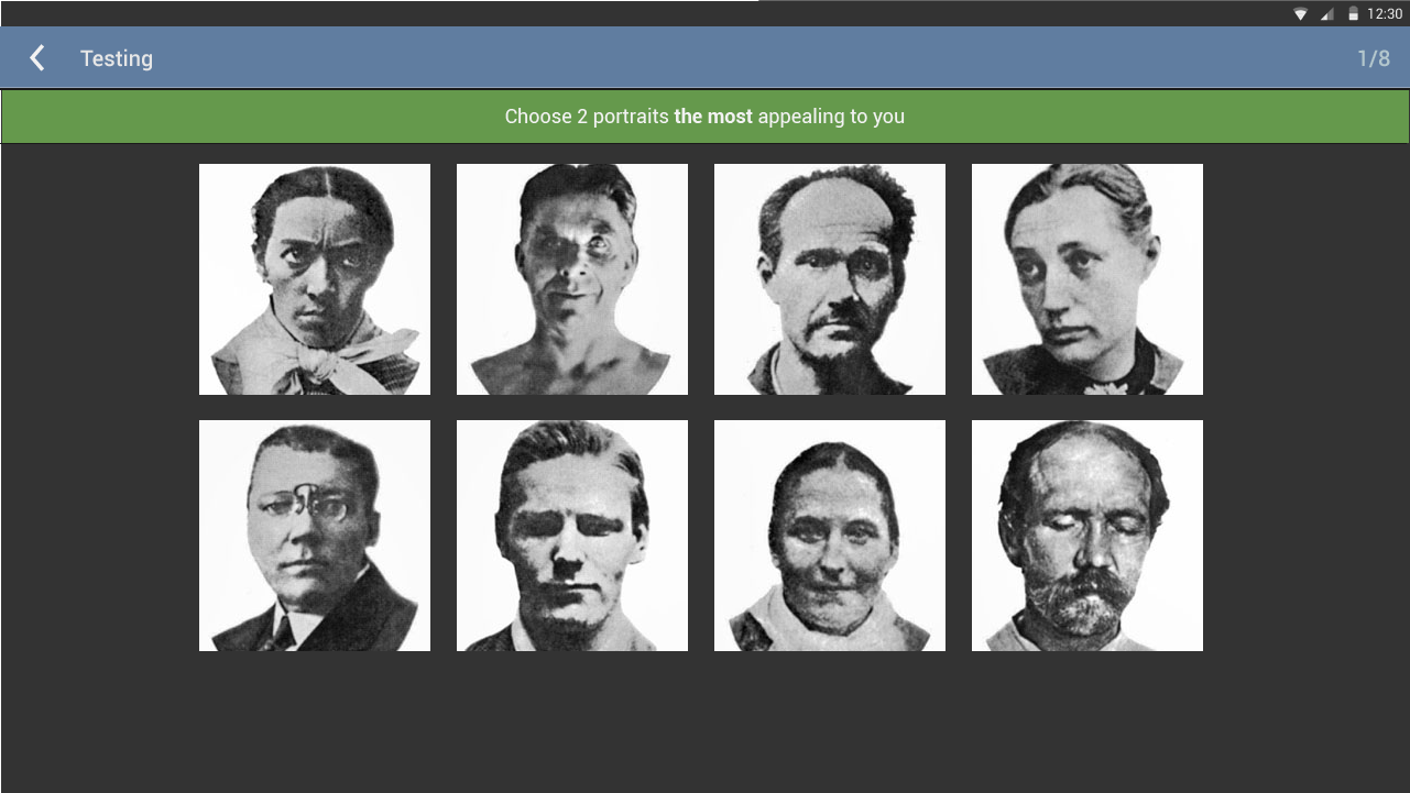 The Szondi Personality Test - screenshot