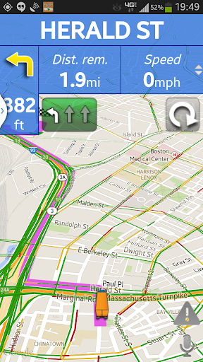 Truck GPS Route Navigation Screenshot