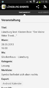 LUNEBURG EVENTS › Eventguide- screenshot thumbnail