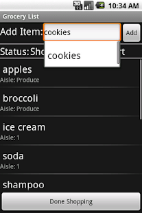 Grocery List - screenshot thumbnail