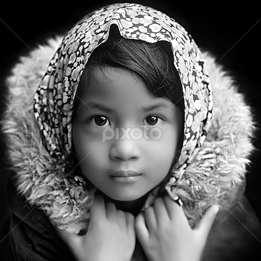 by Yudi Prabowo - Black & White Portraits & People ( child, person, b&w, woman, beautiful, portrait, eyes,  )
