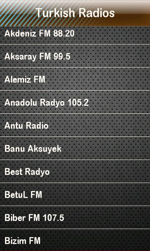 Turkish Radio Turkish Radios- screenshot
