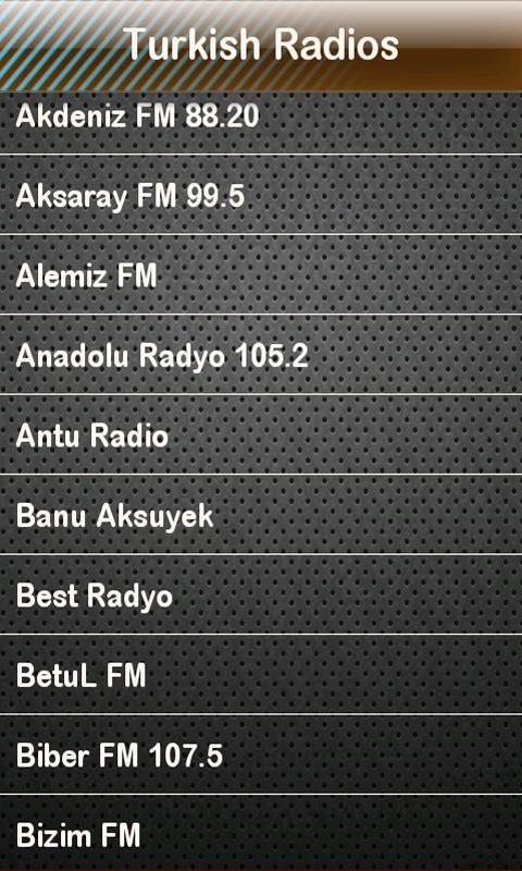 Turkish Radio Turkish Radios - screenshot