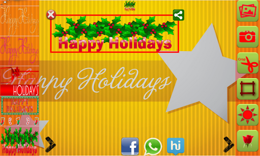 Happy Holidays Greetings Maker