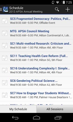 APSA Meetings