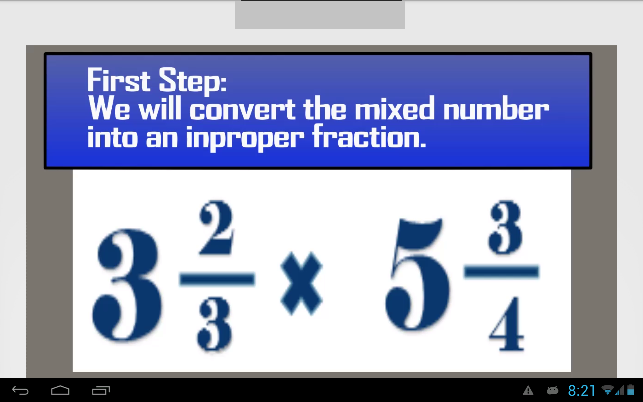 worksheet How Do You Multiply Mixed Numbers multiplying mixed numbers android apps on google play screenshot