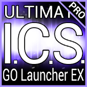 Purple ICS GO Launcher EX