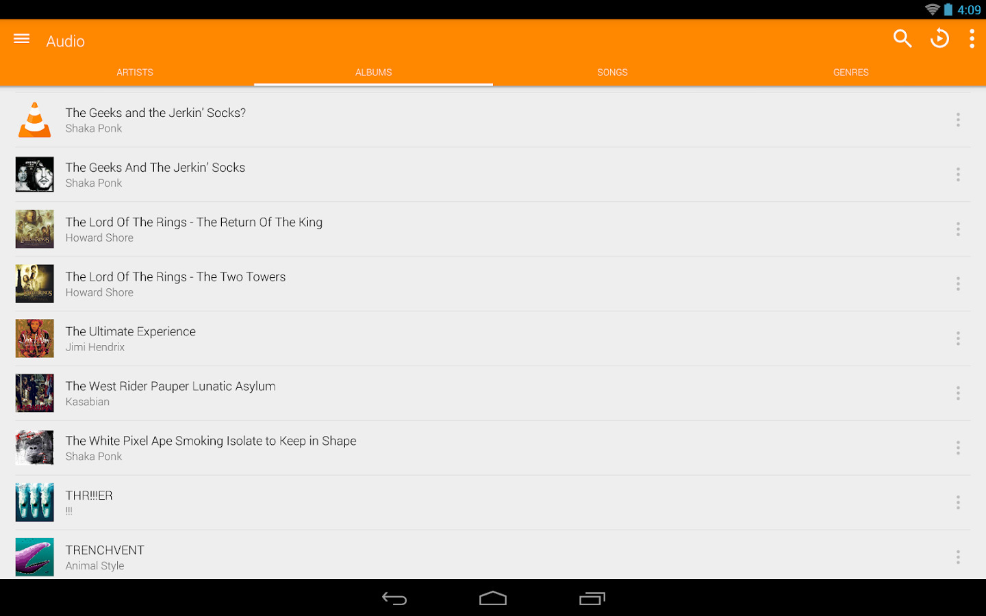 VLC for Android - screenshot