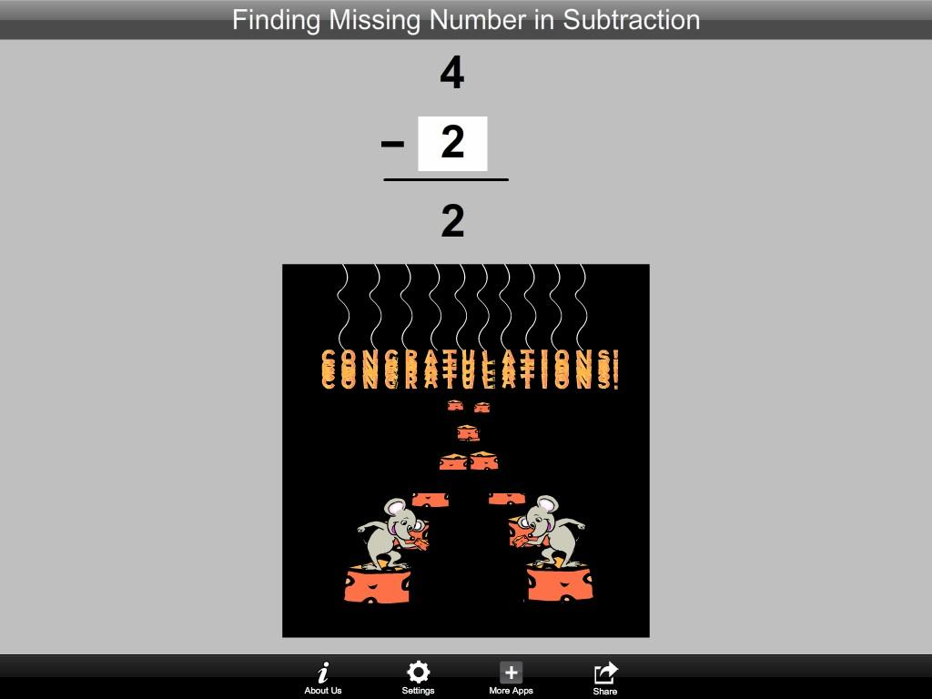 Finding Number in Subtraction- screenshot