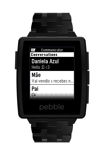 Pebble Communicator- screenshot