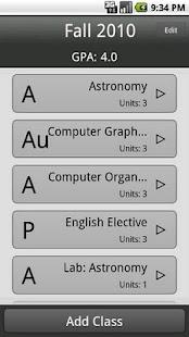 GPA Calculator- screenshot thumbnail