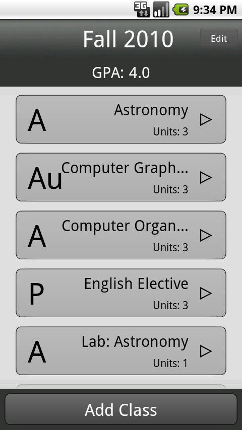 GPA Calculator- screenshot