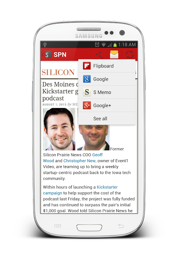Silicon Prairie News- screenshot