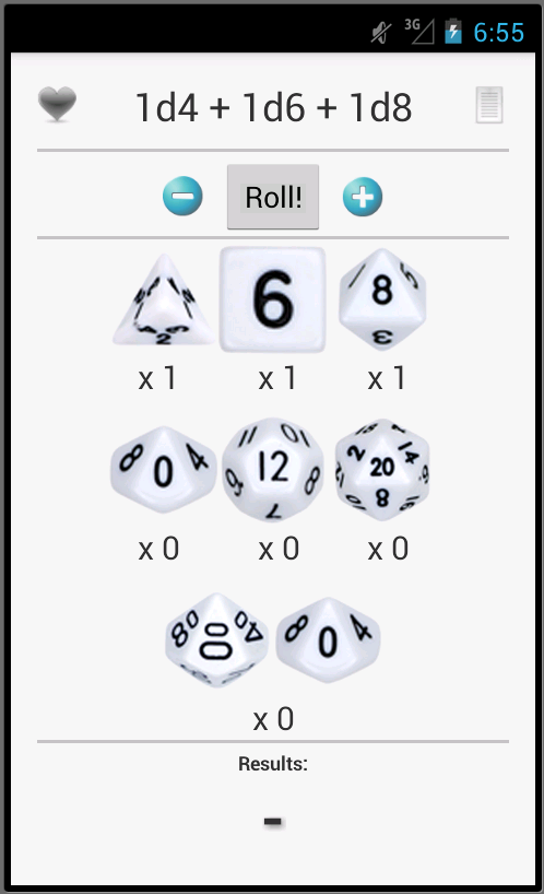 Dice Roller Free- screenshot