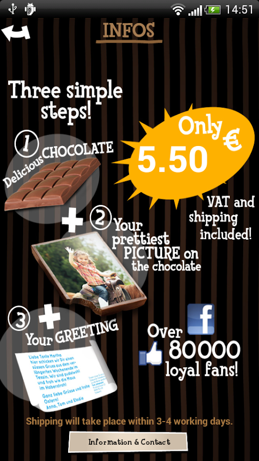 chocogreets android apps auf google play. Black Bedroom Furniture Sets. Home Design Ideas